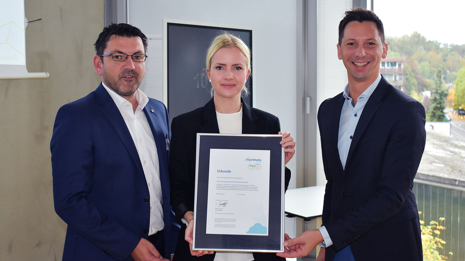 GEORG once again honoured for its efforts in climate protection